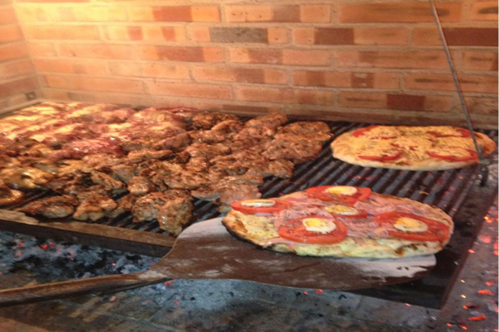 pizza, carne
